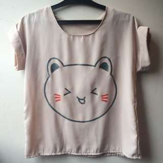 Cat With Nude Blouse