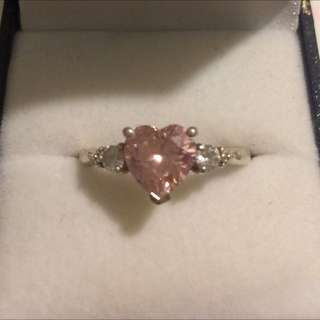 Prouds Pink Heart Ring