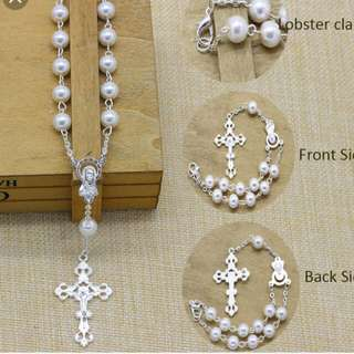 Rosary Bracelet And necklace Baptismal And wedding souvenirs