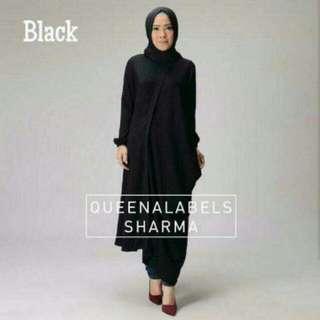 Sharma Tunik Black/burgundy