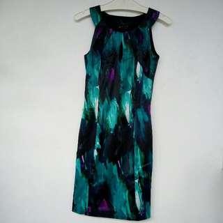 TORQUISE BLACK DRESS
