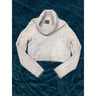 General Pants Co. Cropped Knit Turtleneck Jumper