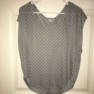Gray Polka dot Cotton On Top XS