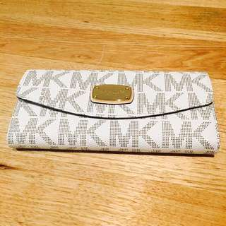 Michael Kors Jet Set Slim Flap Signature Wallet In Vanilla