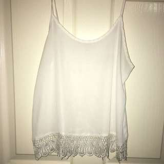 White Lace Top Sz6