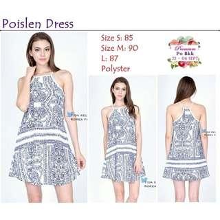 NEW! Poislen Dress (baju Bkk/ Dress Bkk/ Premium Quality/ Outer/ Dress Bangkok/ Clutch)