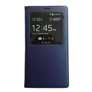 Authentic SAMSUNG Note 3 S View Cover In Navy Blue