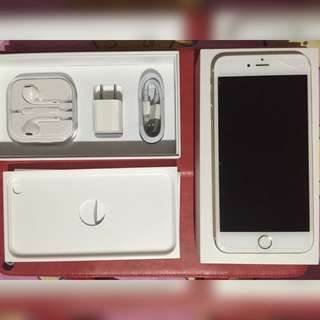 I Phone 6 plus 64G 香檳金 付全薪耳機 充電插頭 充電線及全屏抗藍光貼膜