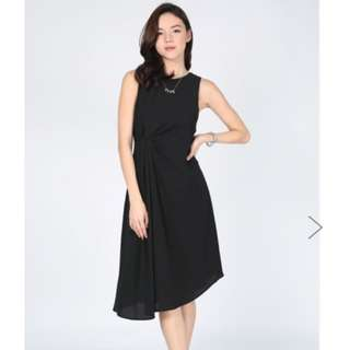 Love Bonito Rhian Ruched Assymetrical Dress