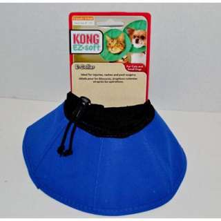 Kong Ez Soft Collar Size Small Blue for Cat and Dog