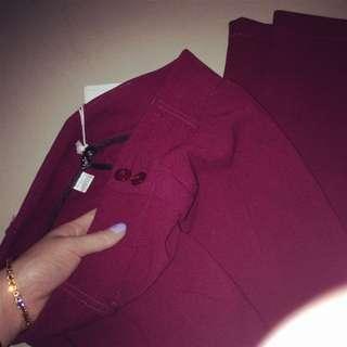 NAISHA Red Wine Casual & Work Pants