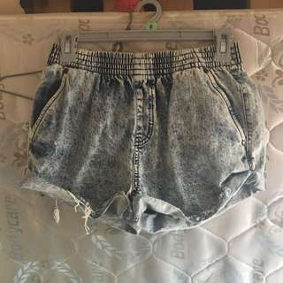 High Waisted Denim Shorts Size 8