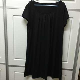 黑色直身裙