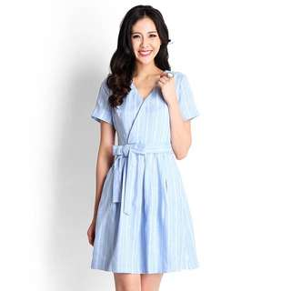 Lilypirates First Frost Dress In Cornflower Blue Size S BNWT