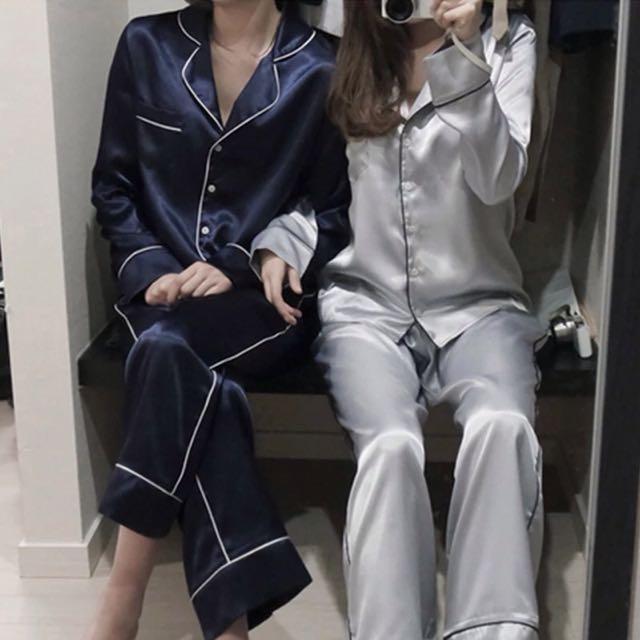韓系真好睡仿真絲睡衣