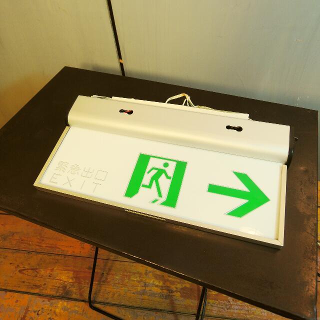 免運費 - 二手緊急出口 LED 標示燈