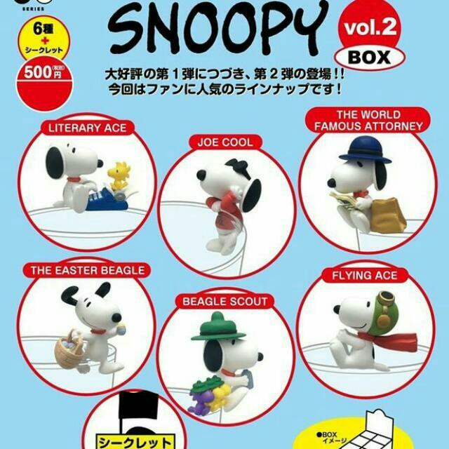 《售完》超殺 限量好康♡ PUTITTO 盒玩 食玩 史奴比 SNOOPY 杯緣子 P2 二代,全6+1隱藏版,一次擁有♡