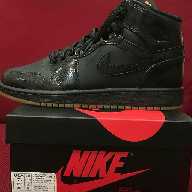"""Air Jordan 1 Retro High OG """"Black GUM"""""""