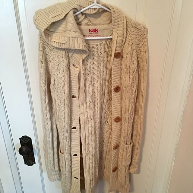 ARITZIA Long, Wool, Button-Up Sweater