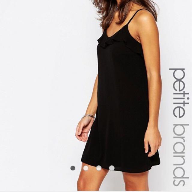 Asos Black Ruffle Dress