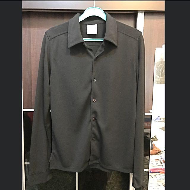 Authentic Mtv Clothes Men Long Sleeve Shirt Black Size M Men S