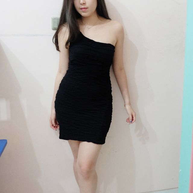 Bershka Black Bandage Dress