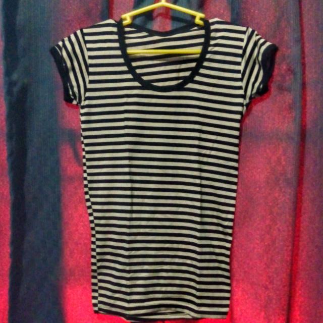 Black And Tan Striped Shirt