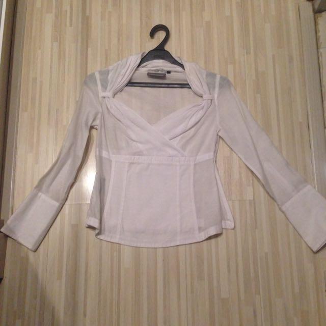 Blouse Wanita Warna Putih, Size 10(S-M). 100rb