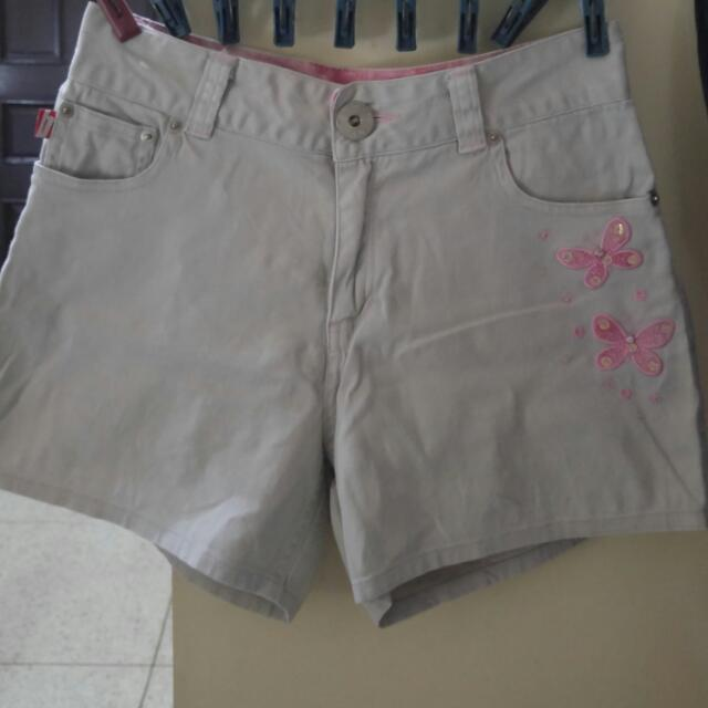Bongo Butterly Embroidered Shorts
