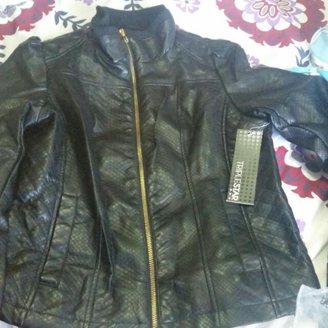 Brand New With Tag Leather Jacket