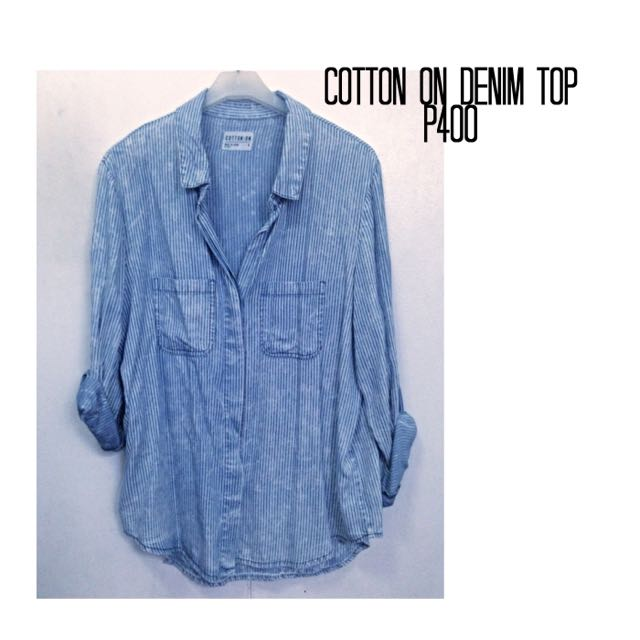 Cotton on Denim Top
