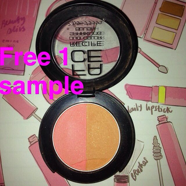 FACE RECIPE Duo Sparkling Blush On