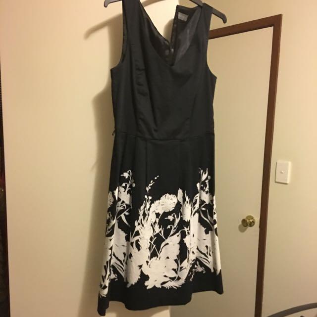 Jacqui-E Navy Dress