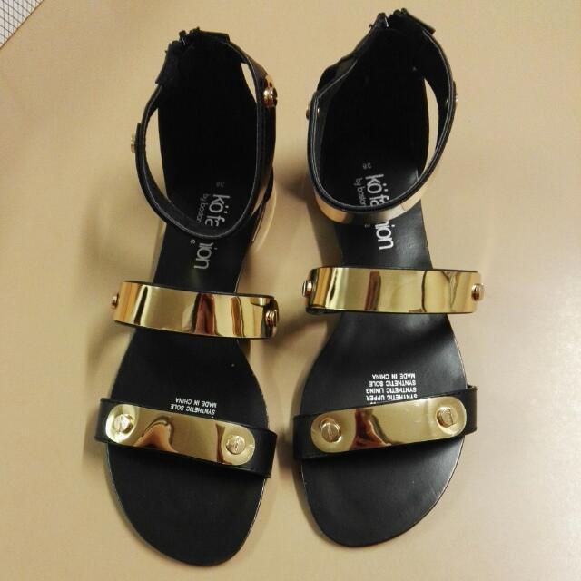 Kö Fashion Size 38 Jessica Black&Gold Shoes