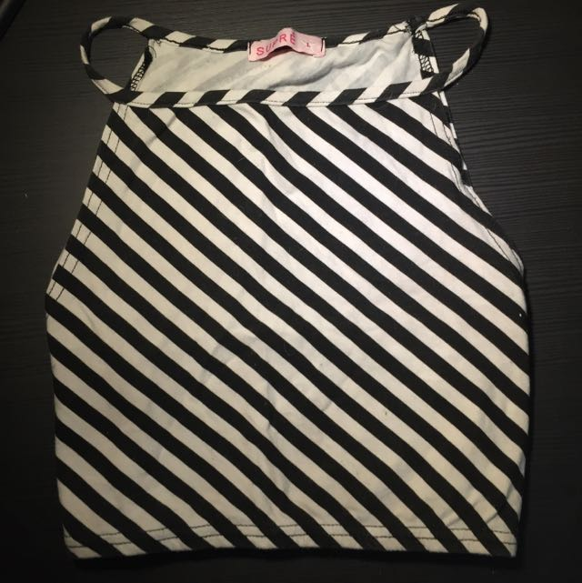 LARGE STRIPED SUPRE CROP TOP