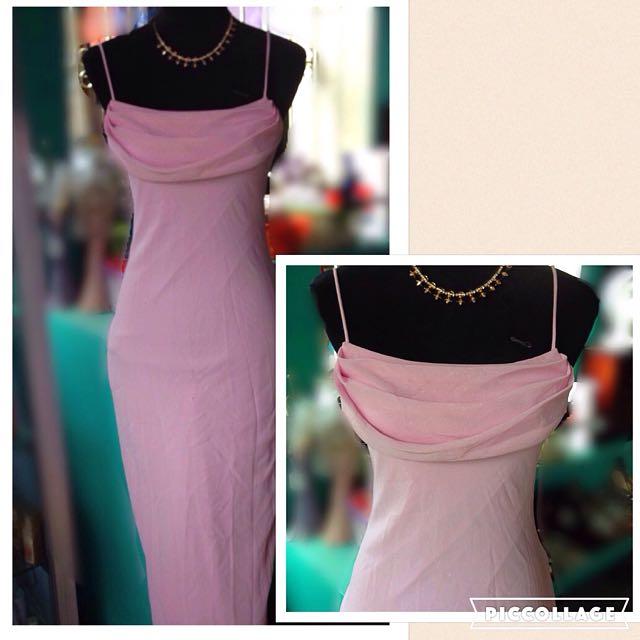 Long Pink Formal Dress