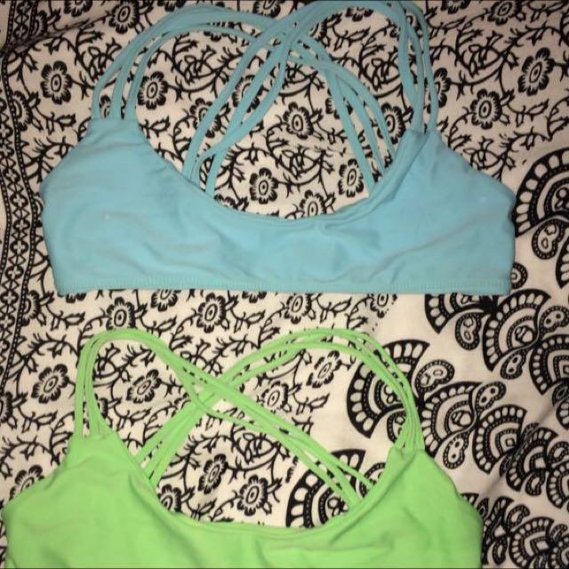 Moans Bikini Top (Blue)