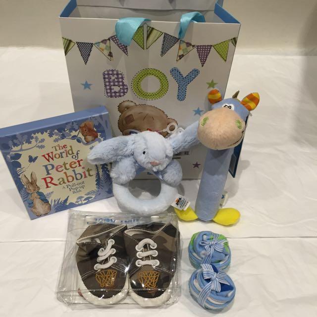 ⭐️⭐️⭐️NEW Baby Boy Bulk Pack Gift Of Goodies