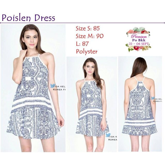 NEW! Poislen Dress (baju Bkk/ Dress Bkk/ Premium Quality/ Outer/ Dress Bangkok/ Clutch)