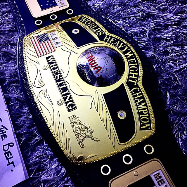 NWA Domed Globe Championship Belt Adult Replica