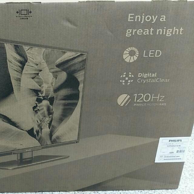 Philips 32吋電視 32PHH5210/96 附視訊盒