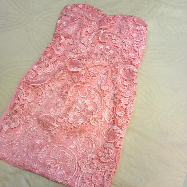 Pink Tube Mini Dress