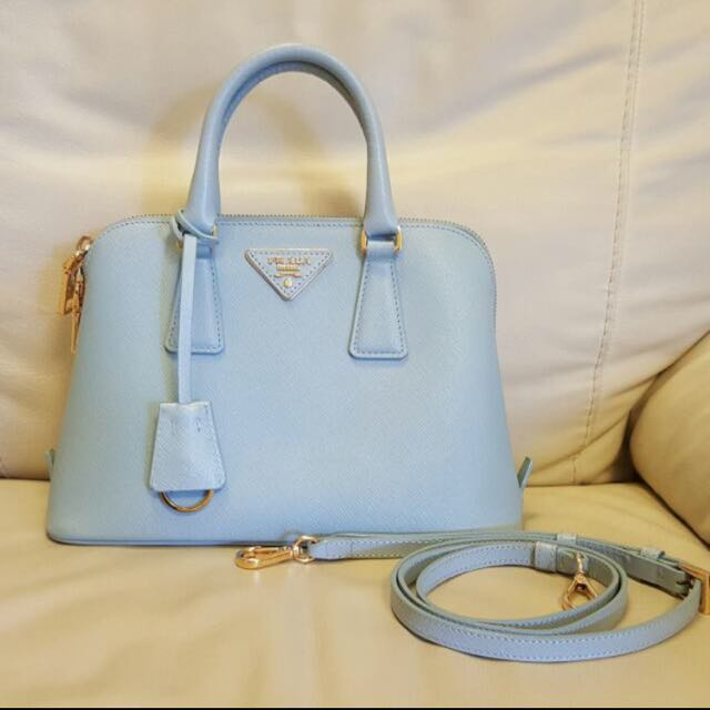 38145a2307f8 Prada Saffiano Lux Small Promenade Bag In
