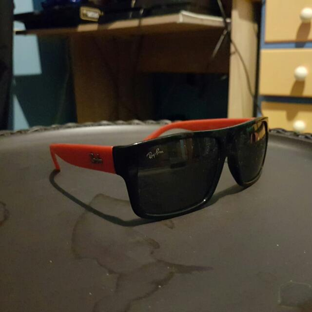 Ray Bans Black Red