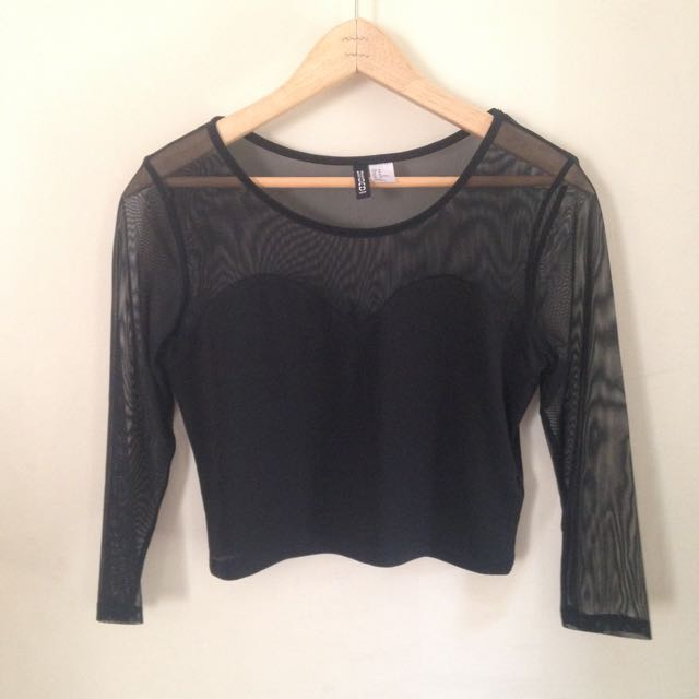 Sheer Cropped Longsleeve