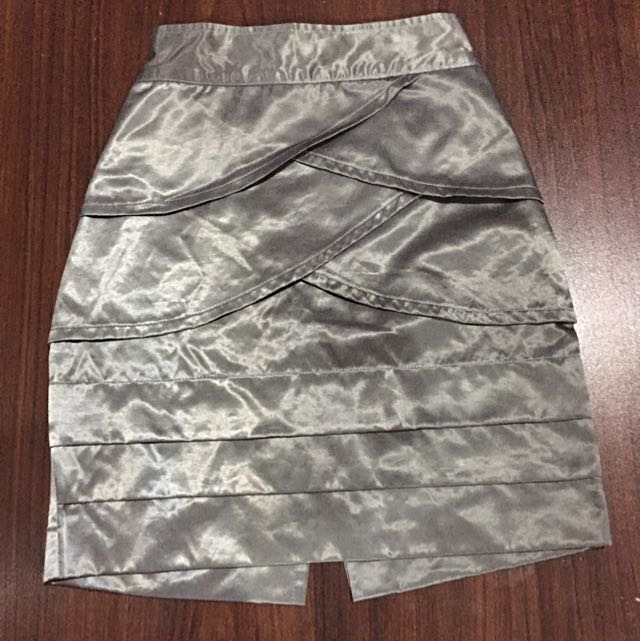 Silver Party Skirt