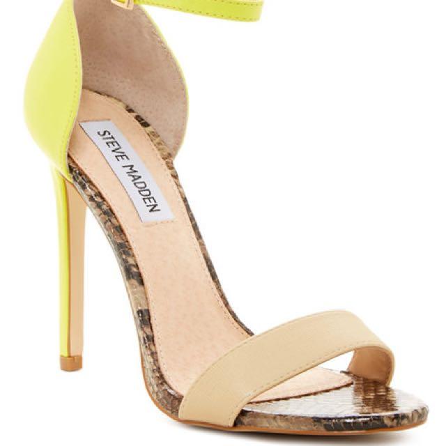 e847581bd33 Reserved Steve Madden Stuningg Yellow Multi Heels
