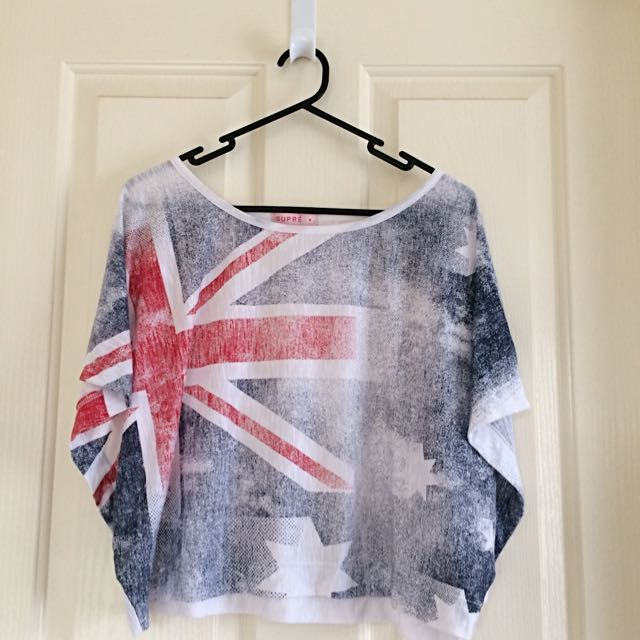 Supre Australian Flag Crop Top