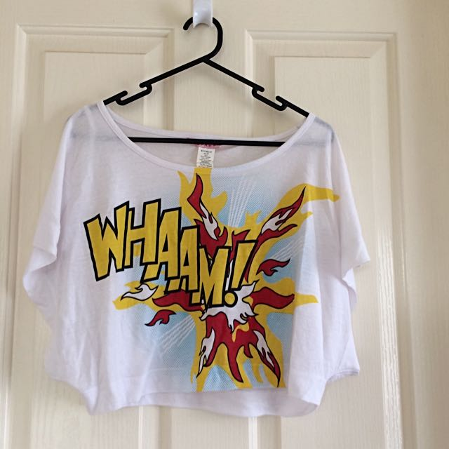 "Supre ""Whaam"" Crop Top"