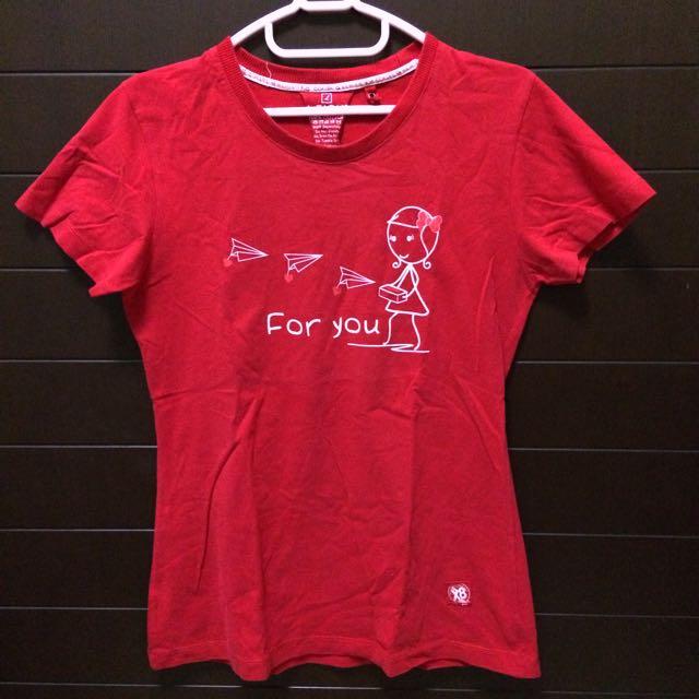Tshirt K-eight Red / Kaos K-eight Merah